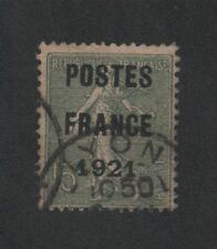 Préoblitéré N°34 15 c semeuse poste France 1921
