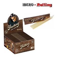 Papel Smoking Brown King Size. Caja 50 libritos de 33 hojas papel liar natural