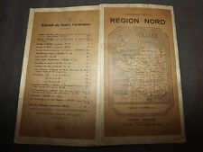 CARTE region nord france GIRARD BARRERE  annees  20 ?