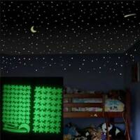 Glow in The Dark Stars Wall Stickers Decals Luminous Adhesives for Room Ceiling