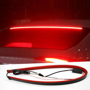 Universal 90CM Red LED Car High Mount Third Brake Stop Rear Tail Light Bar Strip