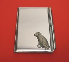 Labrador Retriever Motif on Chrome Notebook / Card Holder & Pen Christmas Gift