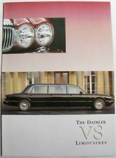 DAIMLER V8 Limousine Car Sales Brochure