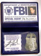 X-Files Badge d'identification de Fox Mulder id wallet FBI id card replica
