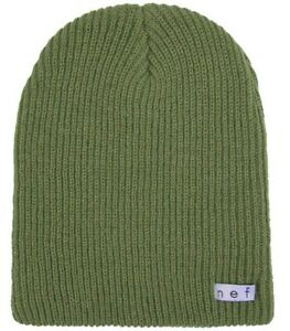 Neff Daily Beanie, Acrylic Rib Knit, One Size Fits Most, Olive Green New