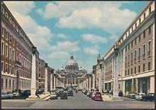 AA5905 Roma - Città - Via della Conciliazione animata - Cartolina - Postcard