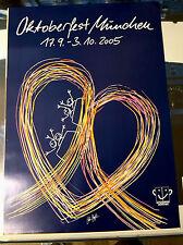 2005 Original Plakat Poster Oktoberfest München Wiesn DIN A1