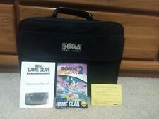 Sega Game Gear With Carrying Case, Battery Pack, and Manuals