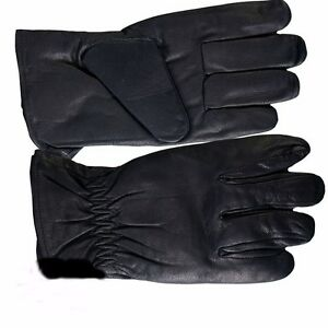100% Leather Waterproof Riding Gloves - Small - biker sports motorcycle cycling
