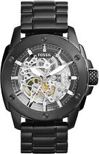 Fossil ME3080 Modern Machine Automatic Skeleton Dial Black Band 50mm Men's Watch