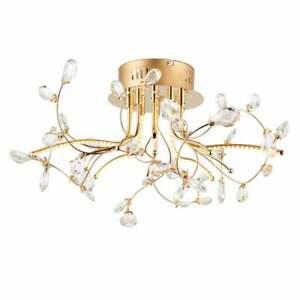 Endon Lighting Willa Semi Flush Gold Ceiling Roof Light 68885