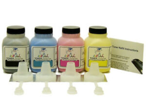 4 InkOwl COLOR Toner Refill Kit for BROTHER TN-221 TN-225 HL-3150 MFC-9130