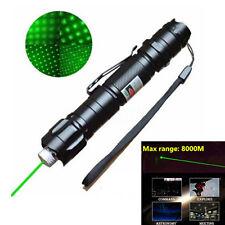 10 Miles 532nm Adjustable Focus Green Laser Pointer Laser Beam Pen +Star Cap 5mw