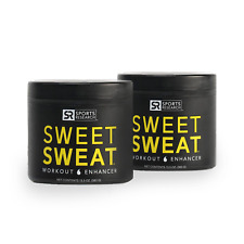 2 x Sports Research Sweet Sweat Cream Jar, 6.5-Ounce Workout Enhancer