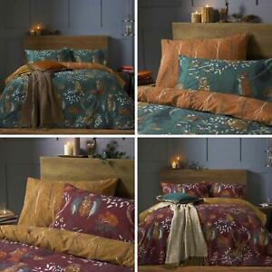 Forest Fauna Duvet Covers Woodland Animals Quilt Cover Bedding Sets by furn.