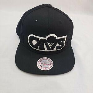 Cleveland Cavaliers Cavs NBA Basketball Black White Snapback Adjustable Hat OSFM