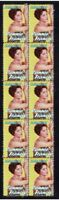 CONNIE FRANCIS ROCK n ROLL STRIP OF 10 MINT VIGNETTE STAMPS 5