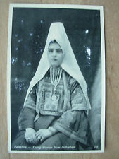 VINTAGE WWII POSTCARD YOUNG GIRL OF BETHLEHEM IN COSTUME 1945