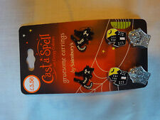 Cast a Spell - Halloween Earings (Cat/Building/Coffin)