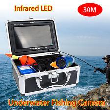 "BOBLOV 30m 7"" IR LED Video Fishing Camera Fish Finder w/Sunvisor+Lights G2"