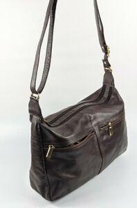 Large Brown Leather Shoulder Bag 36cm X 24cm
