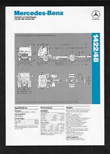 MERCEDES-BENZ 1422/48 SPECIFICATIONS BROCHURE