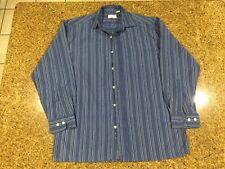 MENS BLUE STRIPE / STRIPED SHIRT - Long Sleeve - Small - S