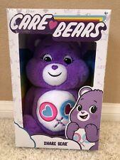 """2020 Care Bears Share Bear 14"""" Plush Stuffed Animal Purple Bear Hearts"""