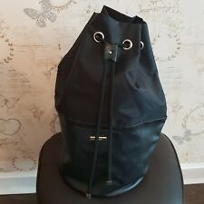 Versace parfums large Backpack rucksack travel duffle drawstring bag black gym