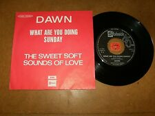 DAWN - WHAT ARE YOU DOING SUNDAY - THE SWEET SOFT SOUNDS - 45 PS / LISTEN - POP