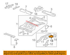 Chevrolet GM OEM 00-13 Impala Floor Rails-Rear-Bumper Bracket Right 20962294