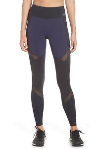 New Balance Navy Multi High Rise Transform Pocket Leggings Women's Size M 6325