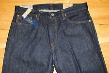 NEW Polo Ralph Lauren Thompson Relaxed Fit Dark Rinse Wash Jeans Men's W 33 L 32