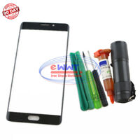 FREE SHIP for Xiaomi Mi Note 2 5.7 Black Front Screen Glass Lens+UV Glue ZVGS443