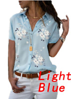 Women Short Sleeve V-Neck Blouse Tops Ladies Casual T-Shirt Blouse Baggy Shirts