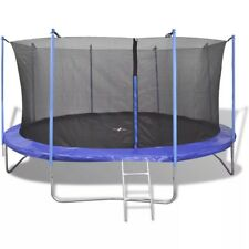 3.7m Kids Enclosed Outdoor Exercise Jumping Bouncing Trampoline Play Gym Centre