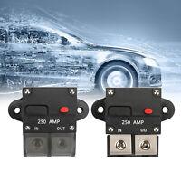250A Amp Reset Inline Circuit Breaker Manual Fuse Terminal Block Marine Auto B