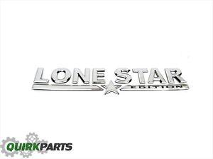 05-07 Dodge Ram 1500 2500 3500 Chrome LONESTAR Emblem/Nameplate OEM NEW MOPAR