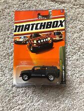 2010 MATCHBOX 1/64 SCALE MATTE BLACK HUMMER H3 #83 OUTDOOR STORTSMAN