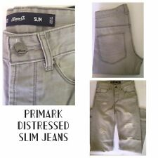 Primark Men's Slim Distressed Grey Jeans