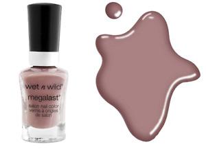 WetNWild MEGALAST Nail Polish WET CONCRETE Matte Gray/Neutral Purple