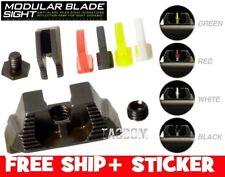 Strike Industries For Glock Modular Blade Sights Light Glow Fiber Optic QPQ Fnsh