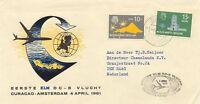 """NIEDERLÄNDISCHE ANTILLEN 1961 Erstflug der KLM mit DC-8 """"CURACAO – AMSTERDAM"""""""