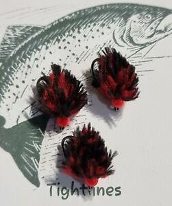 3 x MC EGG IT, DENISE THE MENACE BLOOD RED,  SIZE 10  barbless