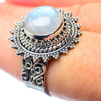 Rainbow Moonstone 925 Sterling Silver Ring Size 7.5 Ana Co Jewelry R26891F