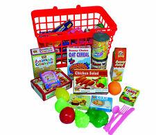40pcs Kids Shopping Basket Children Play Kitchen Pretend Food Groceries Role Toy