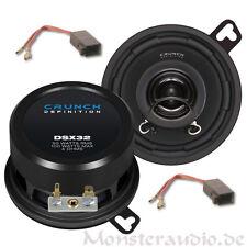 Crunch Lautsprecher für VW Golf 2 II Polo 86c 6N 8,7cm Auto Boxen Armaturenbrett