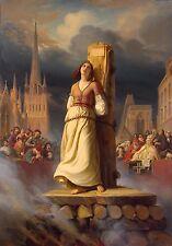 Joan of Arc Hermann Anton Stilke 1843 Death at the Stake 7x5 Inch Print