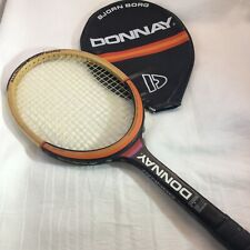 Vintage Bjorn Borg Donnay Allwood Tennis Racquet With Cover Made in Belgium