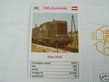 24 EK LOKS E3 OBB AUSTRIA KLAS 2045 TRAIN TREIN KWARTET KAART,